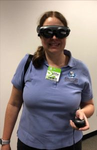 Attendee wearing VR equipment