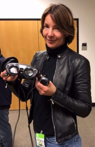 Attendee with VR equipment